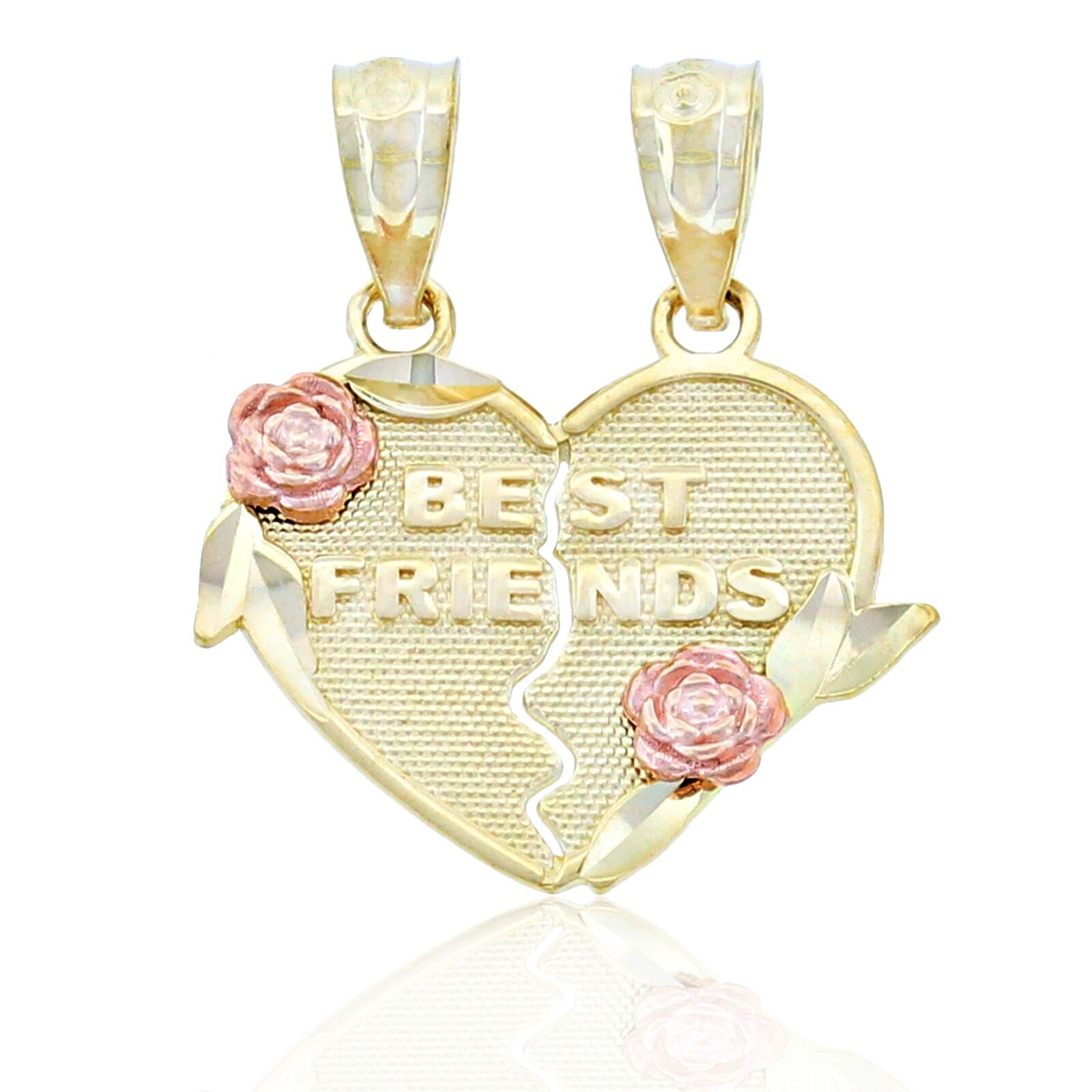 gold Best Friends Break-apart Charm, 10k Solid gold, Charm America Jewelry