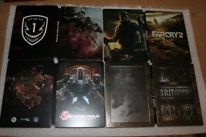 4-STEELBOOK-LOT-Far-Cry-2-Britannia-Gears-of-War-Judgment-Medal-of-Honor