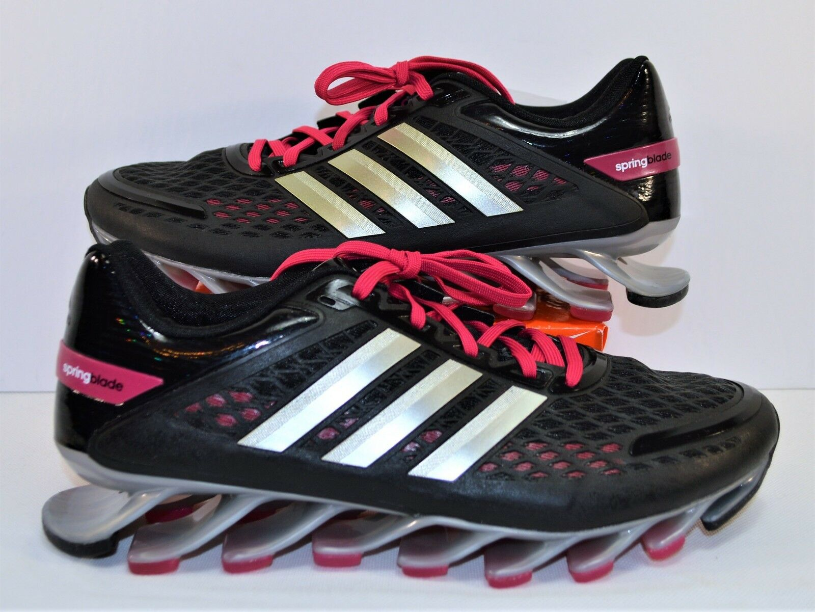 Adidas Springblade Razor Black & Pink Womens Running shoes Sz 10 NEW G97687 RARE