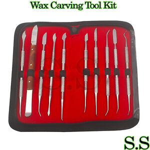 Dental-Lab-Stainless-Steel-Kit-Wax-Carving-Tool-Set-Surgical-Dental-Ins-WX-0031