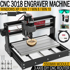 Cnc 3018 Pro Machine Router 3 Axis Engraving Pcb Wood Diy Mill5500mw Laser Head