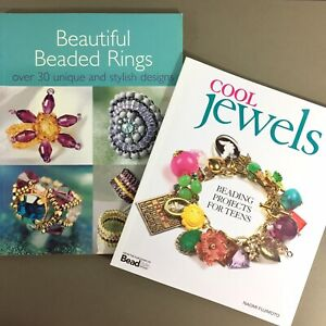 Lot-of-2-jewelry-craft-books-Cool-Jewels-Beading-for-Teen-Beautiful-Beaded-Rings