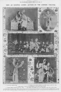 1908-Antique-Print-CHINA-Theatre-Actors-Men-Leading-Ladies-Amoureuse-MIng-69
