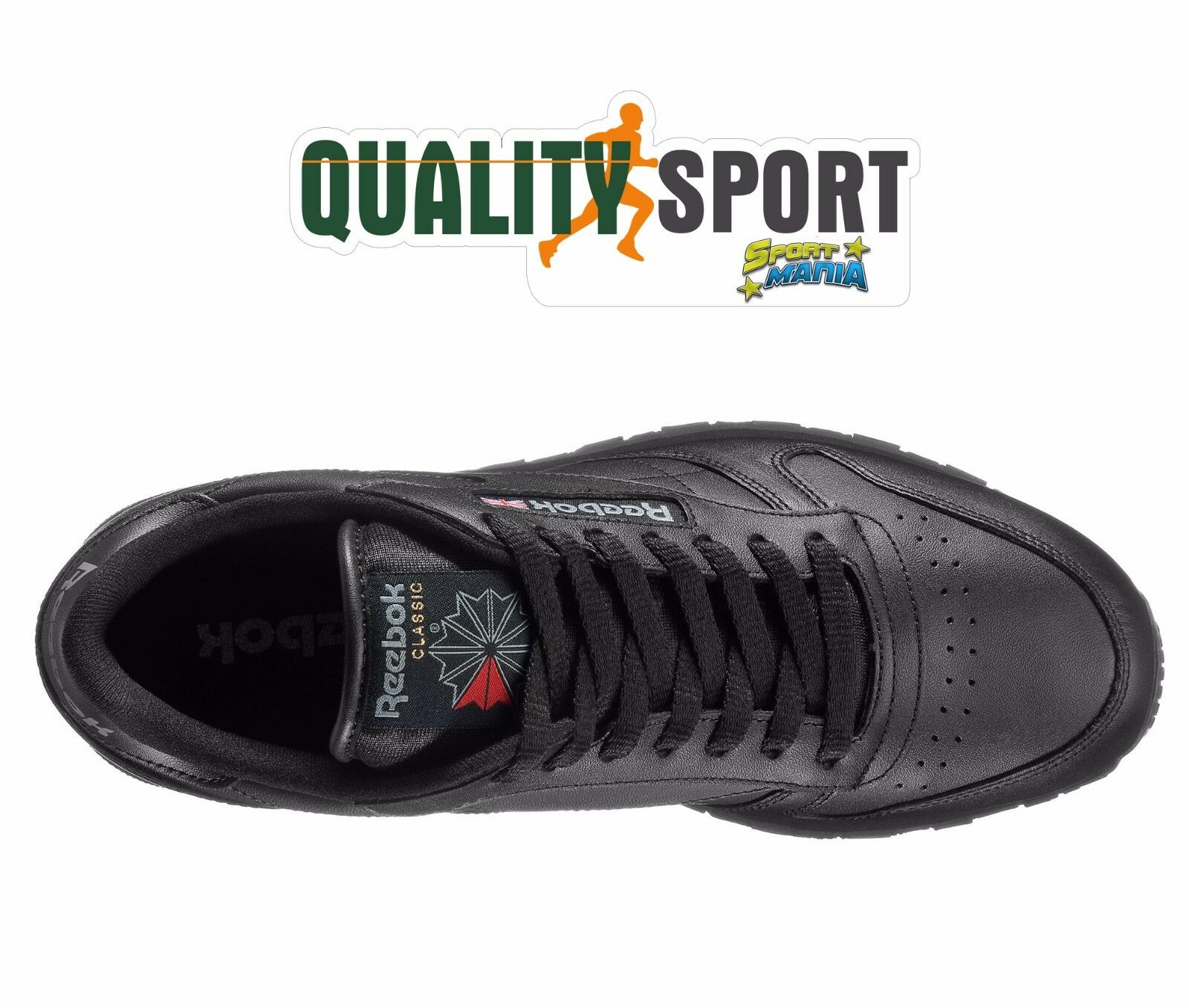 Reebok CL Classic Leather Nero Uomo Pelle Scarpe Shoes Sportive Sneakers 2267