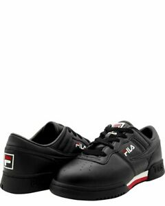 Details about Fila Original Fitness Black White Red Mens Sneakers Tennis  Shoes Size 10