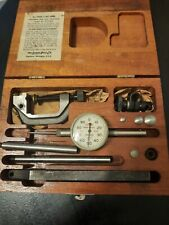 Lufkin Back Plunger Dial Indicator Set Usawith Hole Attachment 299a
