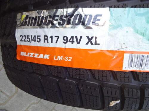 1x Winterreifen Bridgestone Blizzak LM-32 225/45R17 94V XL DOT2212 9mm