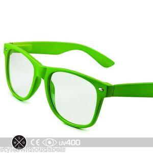 Green Frame Fashion Glasses : Green Frame Clear Lens Vintage Style Hipster Glasses ...