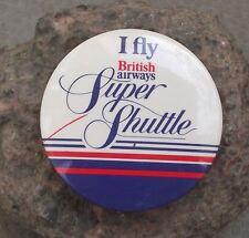 1980s British Airways I Fly BA Super Shuttle Slogan Shrt Haul Flight Pin Badge