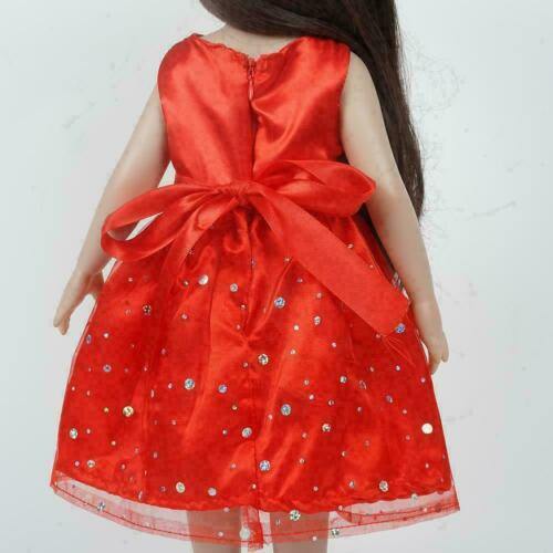 Doll Dress For 18 Inch USA Dolls Red Skirt 18 Inch Y9G8 DECO Clothes D Girl Y8M6