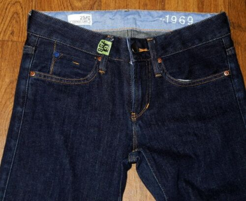 Gap 1969 Vintage Fit Long /& Lean Women/'s Dark Blue Jeans Sz 25x30 28x31