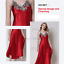 Womens-Ladies-Sexy-Lace-Long-Silk-nightgowns-Stain-Chemise-Sleepwear-Lingerie miniature 3