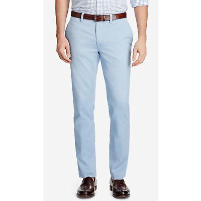 Ralph Lauren Polo Men's Harbor Island Blue Cotton Slim Fit Bedford Chino Pants