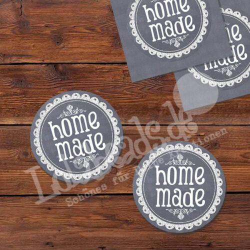 rund 100 Aufkleber Sticker Label HOMEMADE p00st0011 30 mm