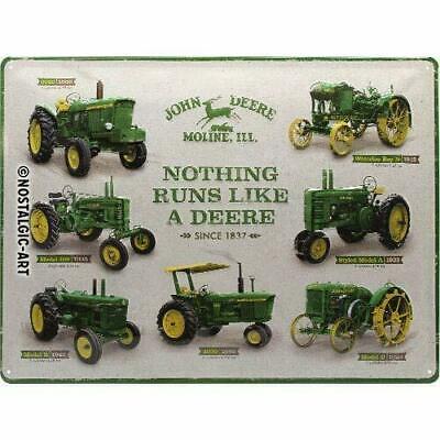 "JOHN DEERE TRACTOR FARM BARN AGRICULTURE TOOLS Retro Metal Tin Sign 8x12/"" NEW"