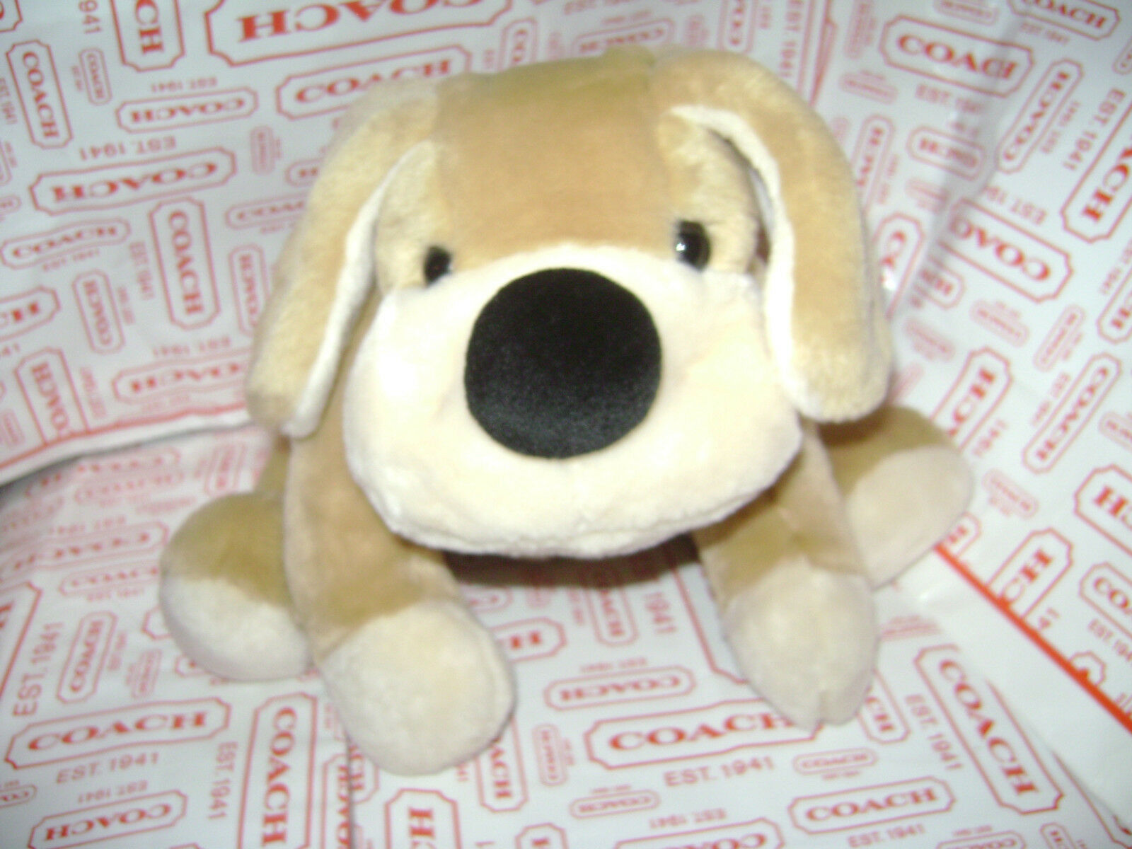 FAO SCHWARZ FIFTH AVENUE BIG DOG PUPPY STUFFED PLUSH ANIMAL TAN braun 16