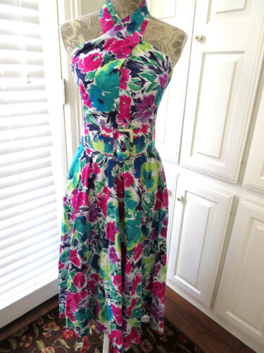 Vintage Halter Dress by Act I Size Small 5 to 6 Tu