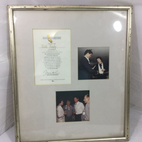Dianne Feinstein Rick Reidy Document Poster Democratic Cabinet Photo Framed