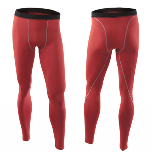 Mens Compression Leggings Under Base Layer Pants Fitness Sports Gym Long Trouser