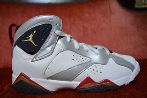 huge discount d666d b0a80 Details about Nike Air Jordan 7 Retro (GS) Olympic 2012 White Metallic Gold  304774 135 Size 7