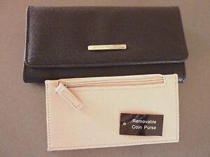 2in1-Damen-Portemonnaie-Clutch-Extra-Geldboerse-Geldbeutel-Schwarz-Purse-Primark