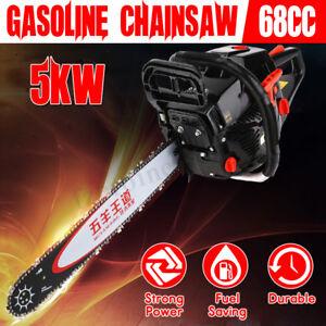 Cortador-de-gasolina-Motosierra-68cc-5000W-20-034-Bar-amp-Cadenas-Cadena-De-Gasolina-Kit