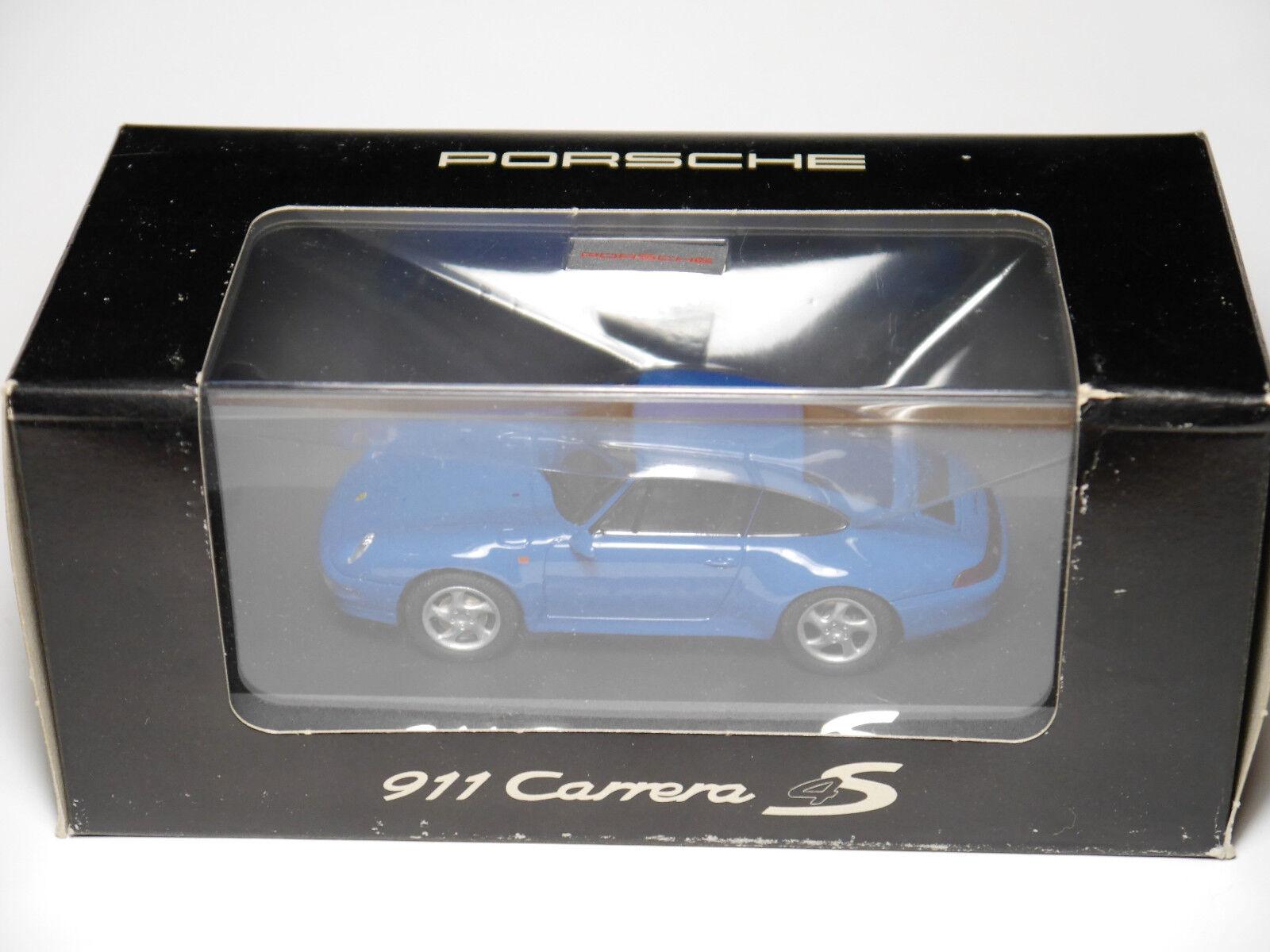 PORSCHE 911 (993) Coupe 4s in blu blu blu blu, Schuco WAP 020 016 1 43 Boxed