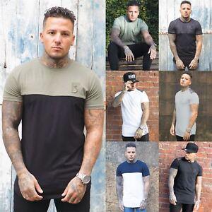 BBH-Disenador-Para-Hombre-Entallado-Camiseta-Informal-Mangas-Cortas-Escote-Redondo-Musculo-Camiseta