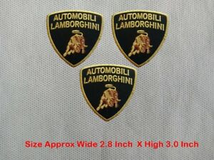 3pcs-AutomobliI-Lamborghini-Racing-Car-Biker-Patch-Embroidered-Iron-or-Sew-on