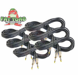 Guitar-Cable-Instrument-Cord-6-Pack-20FT-Wire-Recording-Studio-Amp-1-4-Jack