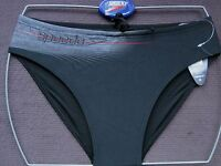 Speedo Swimwear Mens Black Elevation 8cm Lycra Briefs Uk Sizes-tight Fitting