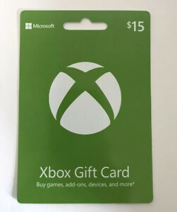 15 Xbox Live 15 Usd Gift Card Xbox One And 360 Usa Only Shipping Usps Ebay