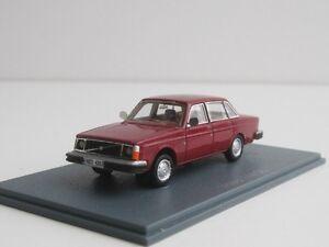 VOLVO-244dl-1976-1-87-H0-neoscalemodels-240-244-DL-NEO-87420-Red-sedan