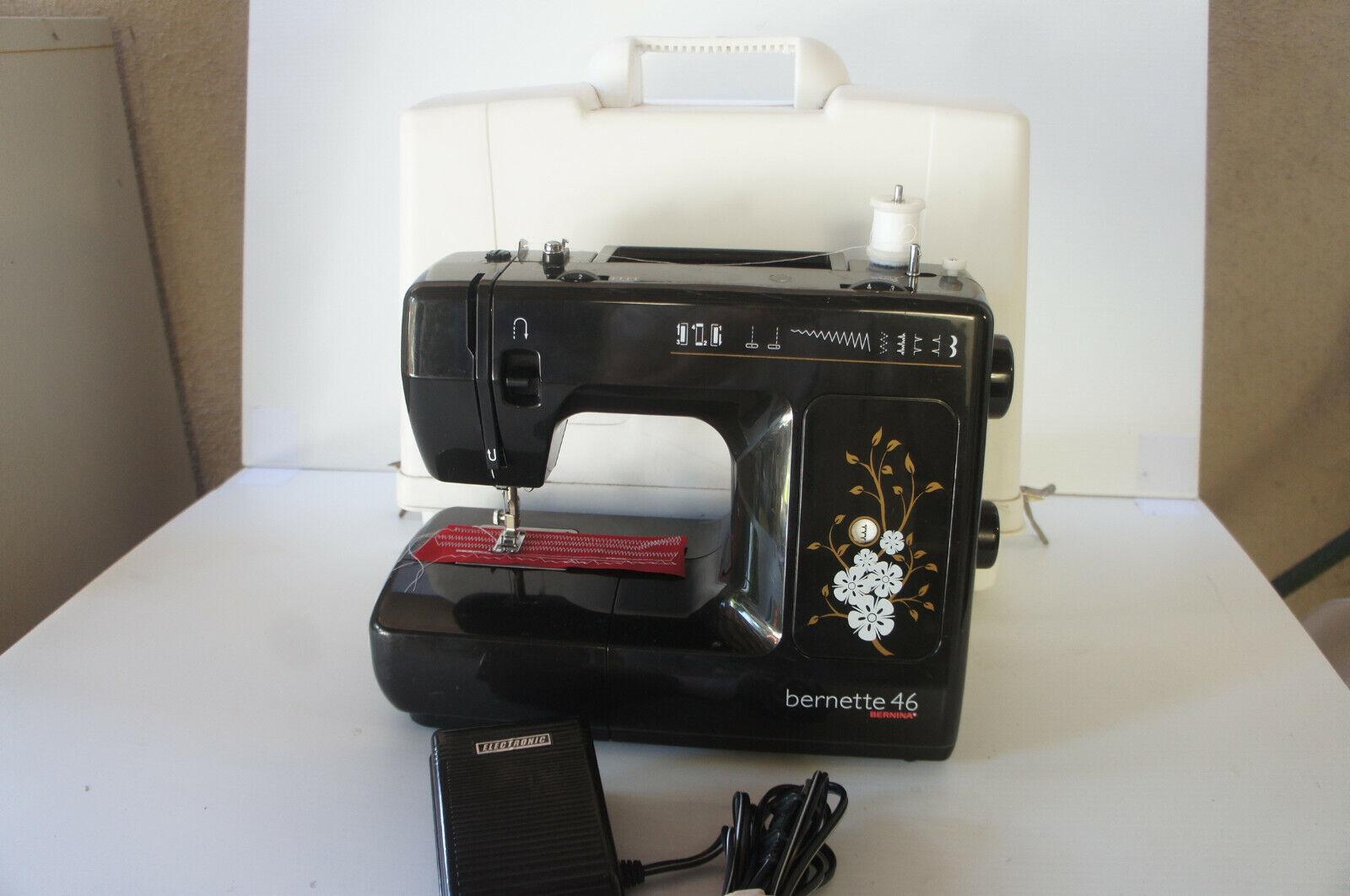 s l1600 - 🍀  FULLY SERVICED! Bernina Bernette 46 Sewing Machine w Pedal Case EXTRAS!