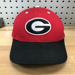 Georgia-Bulldogs-NCAA-Sports-Logo-Ball-Cap-NIKE-Dri-Fit-Size-7-3-4-Red-Hat