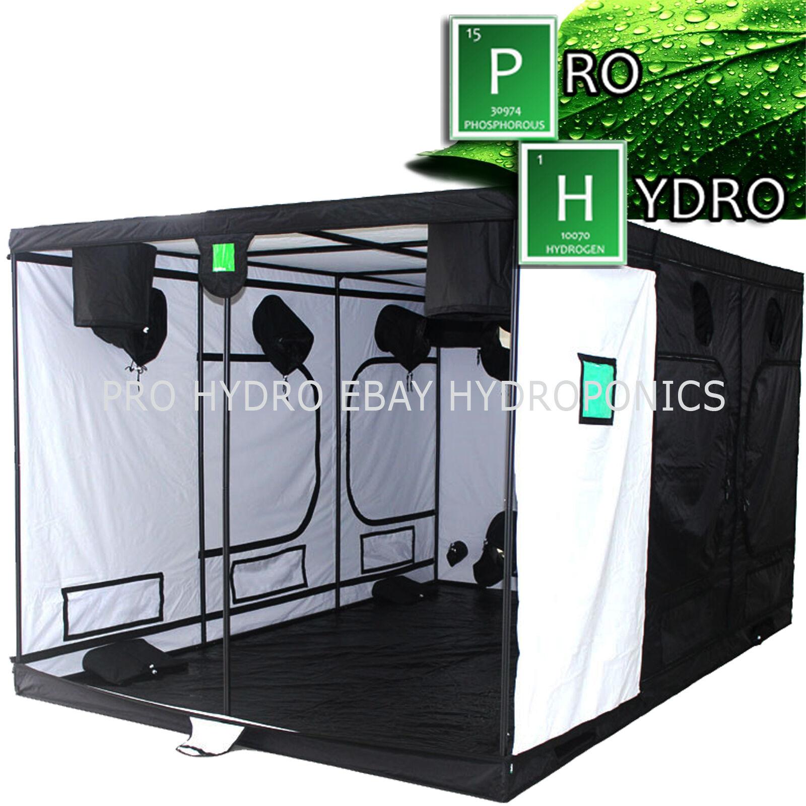 Budbox Pro 3.6m x 2,4 m x 2.0m Idroponico Riflettente Bianco Grow Room Tenda