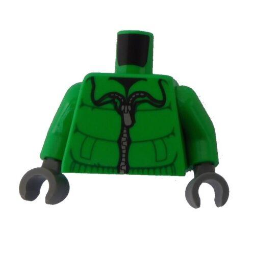 Hände dunkelgrau Neu 973pb0946c01 Lego Torso Oberkörper hellgrün Winterjacke