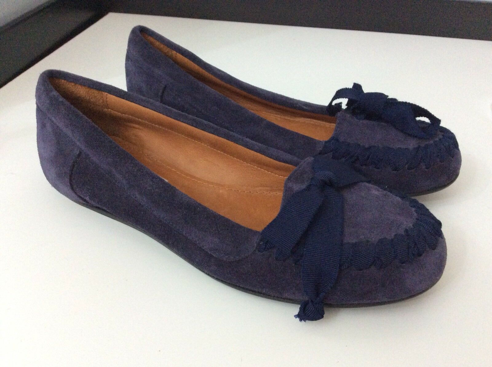 Lanvin NEW Liliac Suede Leather zapatos Ballerinas flats Talla 37.5 Uk 4.5 Rrp