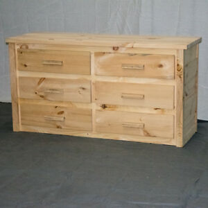 Image Is Loading Unfinished Farmhouse 6 Drawer Dresser Wood Reclaimed