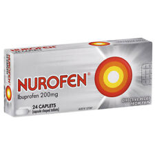 24pc Nurofen Ibuprofen 200mg Caplets Pain/Inflammation Relief/Reduce Fever