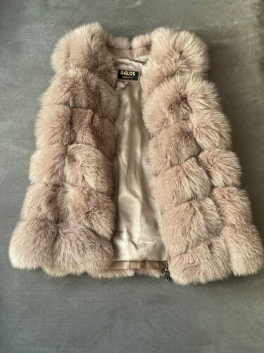 Gorgeous Dusty Pink Fox Fur Vest S