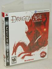 PS3 Dragon Age Origins Video Game The Dark Fantasy Epic Character Quest COMPLETE