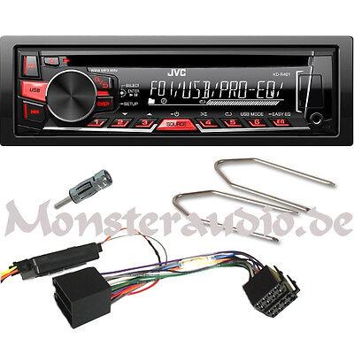 JVC Autoradio OPEL Astra F G Corsa Omega Vectra A B CD MP3 USB + Lenkrad-Adapter