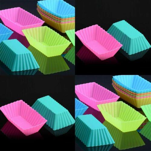 6stk Silikon Muffinform Backform Muffinförmchen Kuchenform Cupcake/_Muffin T5U7