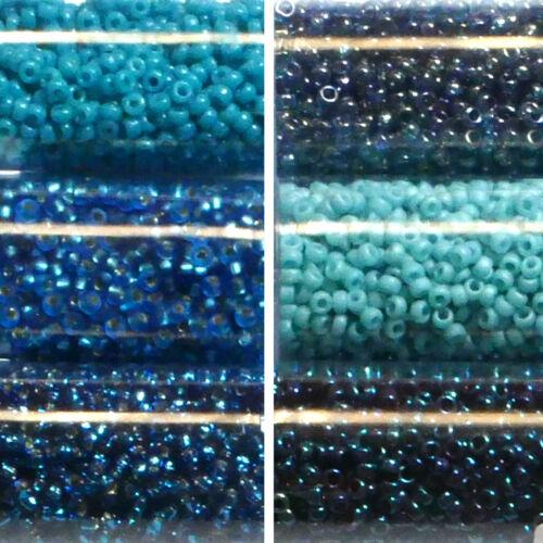 Miyuki Rocailles 15//0 rund 1,5 mm petrol aqua türkies hellblau 5g = 1 Röhrchen