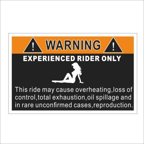 3M Graphics Experienced Rider Funny Warning Car Truck Decal Sticker Helmet Decor