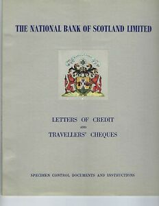 TRAVELERS-CHECKS-amp-LETTERS-OF-CREDIT-SCOTLAND-NATIONAL-BANK-1955-SPECIMENS