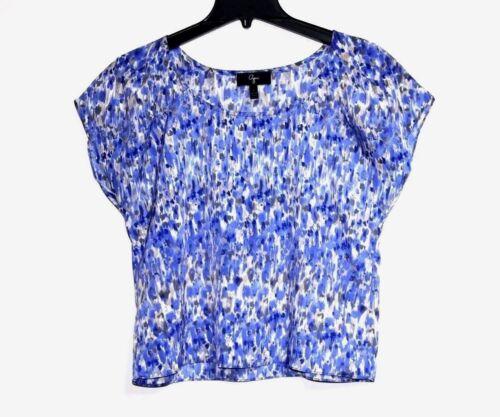 Aquarelle Bleu Imprim Abstrait S Aqua Nwot xqWRaUng