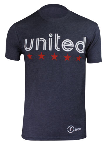Faren Sports Mens United We Stand Premium T-Shirt Heather Navy
