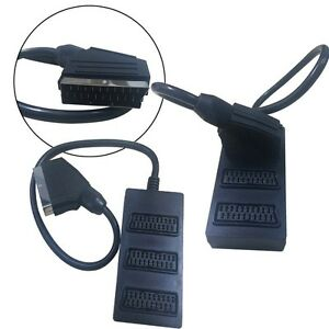 3-Way-Splitter-SWITCH-BOX-VIDEO-Cable-Adapter-3-Devices-to-1-Scart-Connection